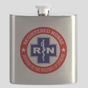 Registered Nurse (red-blue) Flask