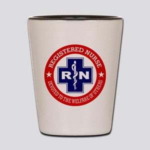 Registered Nurse (red-blue) Shot Glass