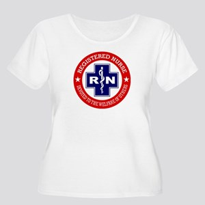 Registered Nurse (red-blue) Plus Size T-Shirt