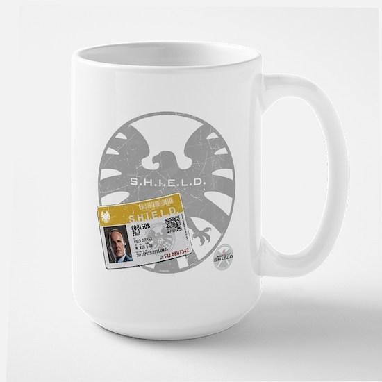 Agents of Shield Badge Large Mug