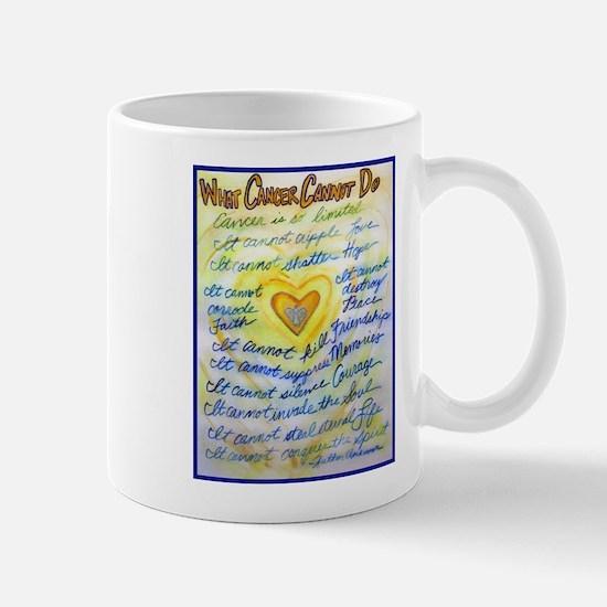Blue & Gold Heart Cancer Mug