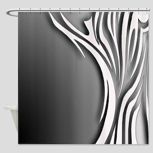 Large Zebra Stripes Shower Curtain