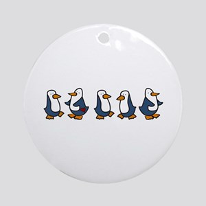 Winter Penguins Ornament (Round)