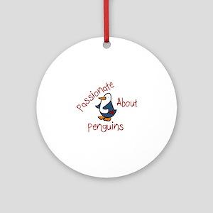 Passionate Penguin Ornament (Round)
