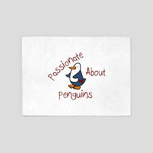Passionate Penguin 5'x7'Area Rug