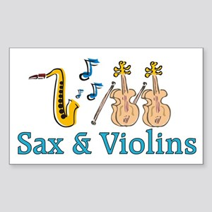 Sax & Violins Rectangle Sticker