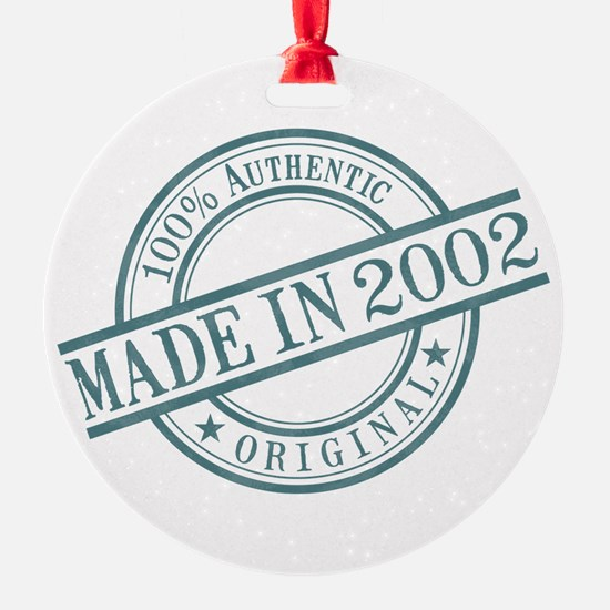 Made in 2002 Ornament