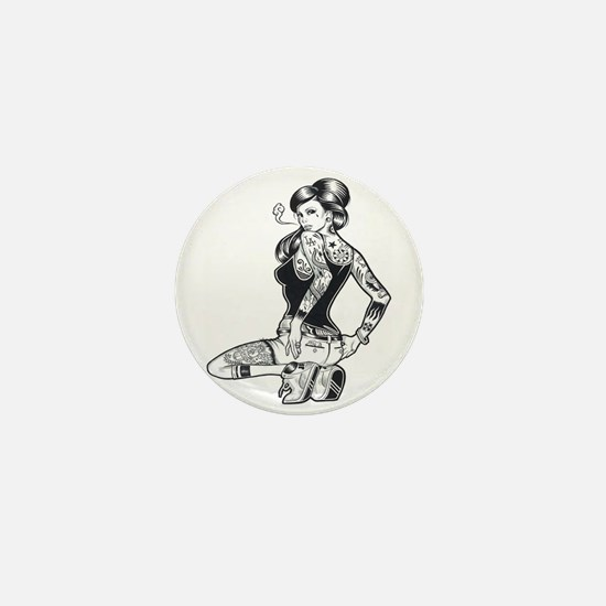 Sexy Pin Up Mini Button