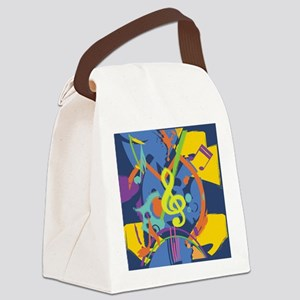 Bright Abstract music design Canvas Lunch Bag
