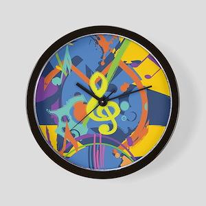 Bright Abstract music design Wall Clock
