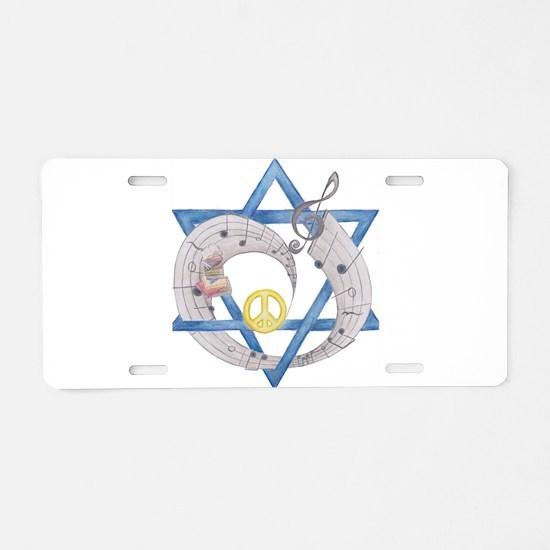 Peace Beats Aluminum License Plate