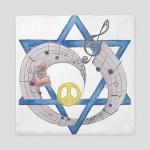 Peace Beats Queen Duvet