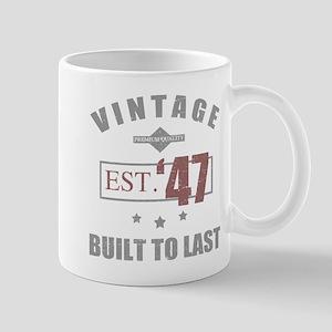 Vintage 1947 Birth Year Mugs