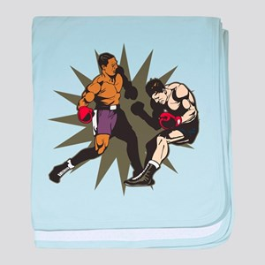 Boxing Knockout Fight baby blanket