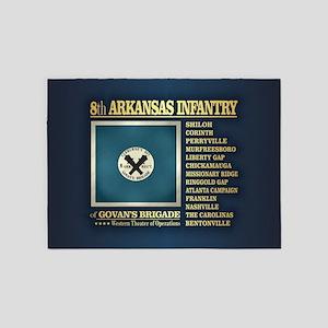 8th Arkansas Infantry (BH2) 5'x7'Area Rug