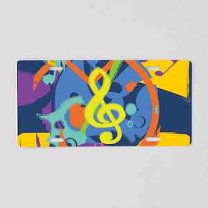 Bright Abstract music design Aluminum License Plat
