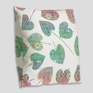 Leaves Burlap Throw Pillow