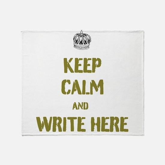 Keep Calm customisiable Throw Blanket