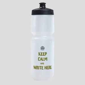Keep Calm customisiable Sports Bottle
