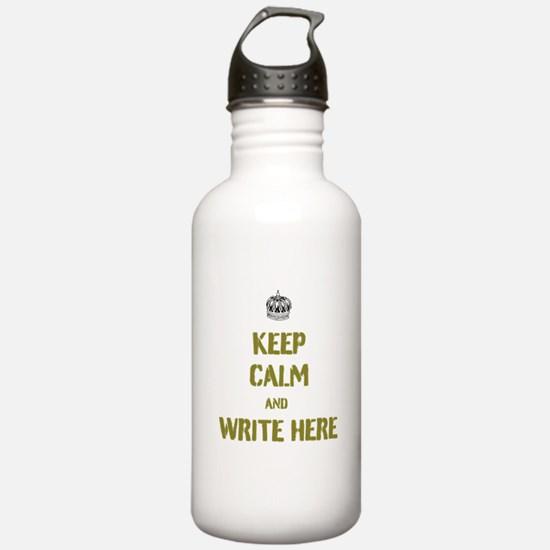 Keep Calm customisiable Sports Water Bottle