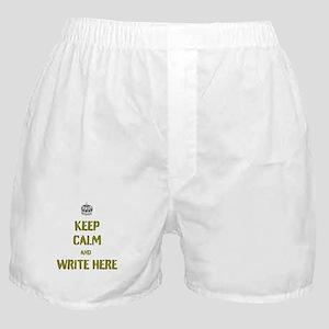 Keep Calm customisiable Boxer Shorts