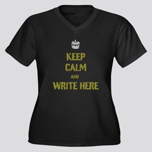 Keep Calm customisiable Plus Size T-Shirt