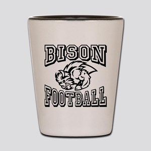 Bison Football Shot Glass