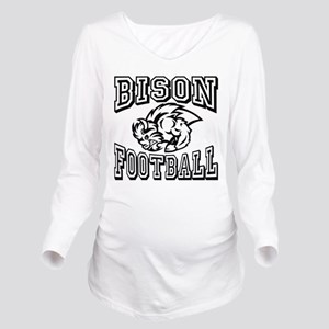 Bison Football Long Sleeve Maternity T-Shirt