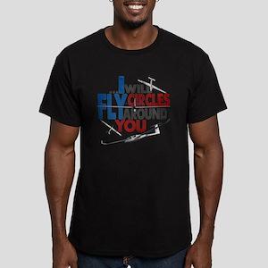 Glider Pilot Boasting Men's Fitted T-Shirt (dark)