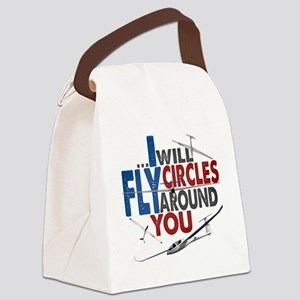 Glider Pilot Boasting Canvas Lunch Bag