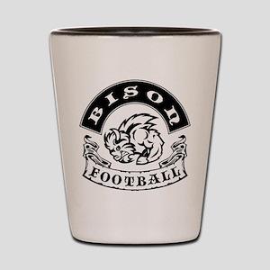 Bison Football Shot Glass