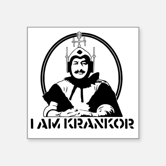 "MST3K Krankor Square Sticker 3"" x 3"""