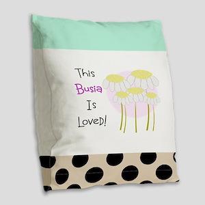 Busia 4 Burlap Throw Pillow