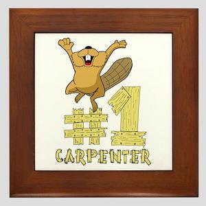 Number One Carpenter Framed Tile