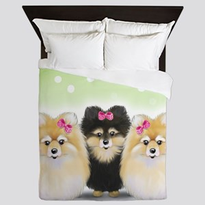The Pom sisters Queen Duvet