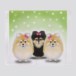 The Pom sisters Throw Blanket