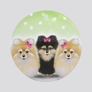The Pom sisters Ornament (Round)