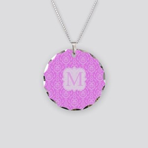 Pink Damask pattern Necklace