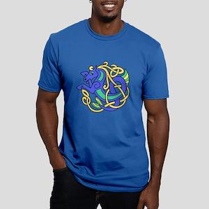 Celtic Hippocampus 2 Men's Fitted T-Shirt (dark)