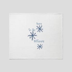 Different Snowflakes Throw Blanket