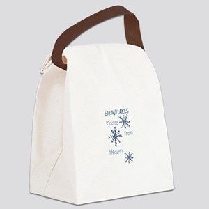 Heavenly Snowflakes Canvas Lunch Bag