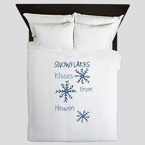 Heavenly Snowflakes Queen Duvet