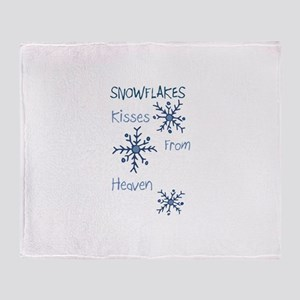 Heavenly Snowflakes Throw Blanket
