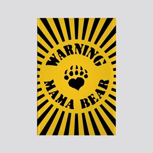 Warning - Mama Bear Rectangle Magnet