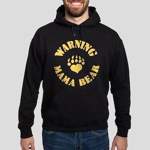 Warning - Mama Bear Hoodie (dark)