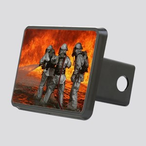 3 Firefighters fighting a  Rectangular Hitch Cover