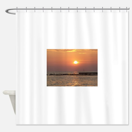 Beach Side Shower Curtain