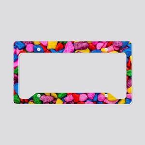 Colorful Stones License Plate Holder