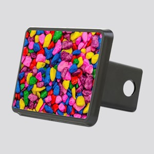Colorful Stones Rectangular Hitch Cover