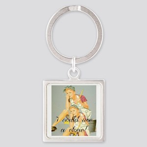 house cleaning humor Square Keychain